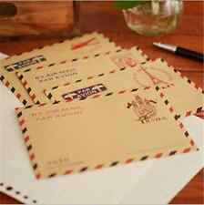 Set Of 10 Mini Small Vintage European Airmail Envelope Greeting Stationery Cards
