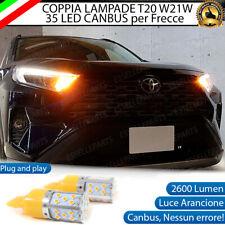 COPPIA LAMPADE T20 WY21W CANBUS LED PER TOYOTA RAV-4 V MK5 FRECCE ANTERIORI