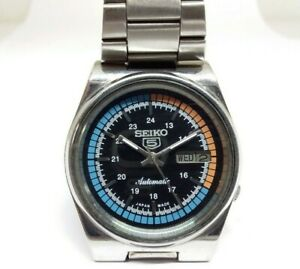 VINTAGE SEIKO 5 REPAINT DIAL DAY & DATE AUTOMATIC 7009 WORKING WRIST WATCH