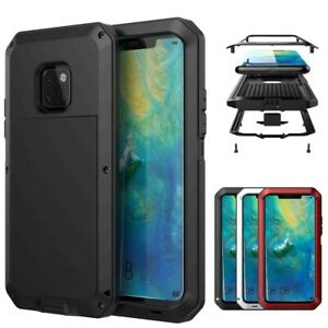 For Huawei Mate 20 Pro Powerful Shockproof Aluminum Metal Armor Heavy Duty Case