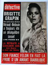 DETECTIVE 01/07/1971; Brigitte Grapin/ l'enfer du plaisir/ Genk; la traite des B