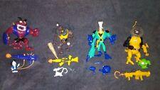 Playmates Toys Earthworm Jim Action Figure Lot of 4 Peter Puppy Psycrow Henchrat