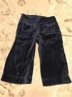Janie and Jack Baby Girl's Navy Blue Velvet Pants 6-12 Months Holiday