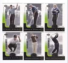 2001 Upper Deck E-Card Complete 6 card set UNSCRATCHED--TIGER, Garcia, Daly,