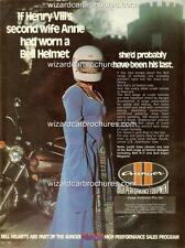 1978 BELL HELMETS AUNGER WHEELS FORD HOLDEN YAMAHA A3 POSTER AD SALES BROCHURE