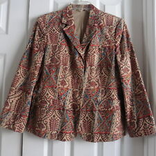 Orvis Women's Paisley Jacket w/ Pockets, Size 10, 100% Cotton, Lined, EUC!