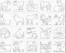 1 Panel De Tela Pincel Studios Granja vida Mini Cojín paneles - 120-12681