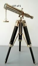 NAUTICAL Solid BRASS TELESCOPE WITH TRIPOD STAND TELESCOPE