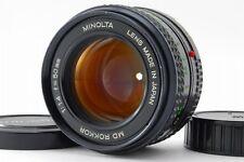 【Exc+++】Minolta MD Rokkor 50mm F1.4 MF Standard Lens From Japan(058)