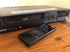 AKAI VS-35EK VCR Video Cassette Player Recorder DX4 Head Remote Control RC-V37B