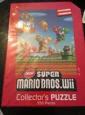 Super Mario: Wii Puzzle 550 Piece Collectors Puzzle Brand-New Factory Sealed