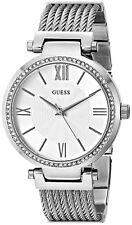 Guess Reloj Mujer Plata Crystal Woman Silver Watch Bracelet Pulsera Hand Band