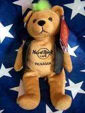 HRC Hard Rock Cafe Panama Punk Bear Mohawk 2012 Green Hair Herrington