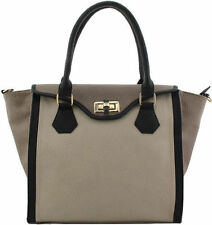 Clasp Totes with Inner Pockets Handbags