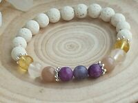 HAPPINESS, LOVE, JOY, PUBERTY & ABUNDANCE - CRYSTAL HEALING GEMSTONE BRACELET