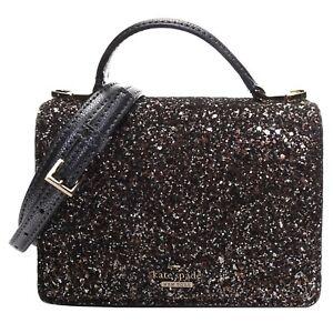 NWT Kate Spade Laurel Way Glitter Maisie Black Crossbody Bag WKRU5692 MSRP $249