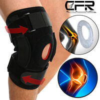 Double Hinged Knee Brace Open Patella Support Stabilizer Medical Sports Wraps PD