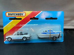 Matchbox Lesney 1983 Ford Escort XR3i With Boat & Trailer Diecast TP-115