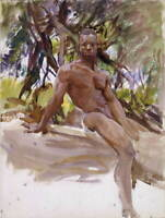 John Singer Sargent Man And Trees Florida Poster Giclee Canvas Print