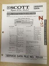 Scott Service Manual for the SA120 SA225 SA328 A1100 A1600 Amplifier Amp  mp