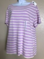 Old Navy Women's Size XL New With Tags Short Sleeve Purple Striped Top