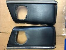 porsche 911 912 door interior pockets w/chrome trims L R PAIR RARE