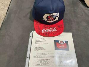DEREK Jeter 1993 Greensboro signed autographed team hat JSA Hall of Fame HOF