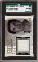 2001-02 Upper Deck Legends #MC-J Kevin McHale Legendary Jerseys SGC 92 / 8.5