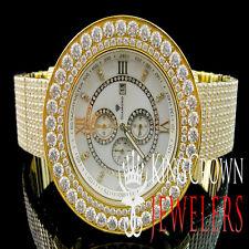 Mens  Jojo/Jojino/Joe Rodeo Full Solid Stainless Steel Iced Out Wrist Watch
