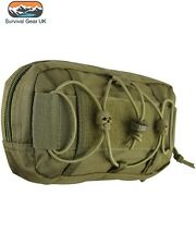 Tactical Coyote Fast Mag Pouch Molle Compatible ID Panel Zipped Compartment MTP