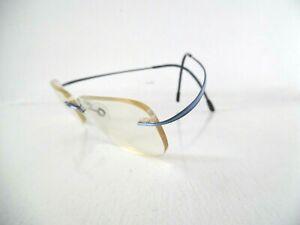 Unisex Silhouette Blue Striped Rimless Eye Glasses 7508 40 6085 50 19 150