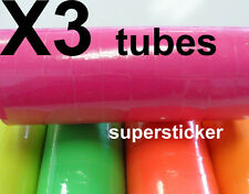 Pink Price Tags for Mx-6600 2 Lines Gun 3 tubes x 14 rolls x 500