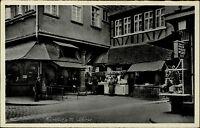 FRANKFURT Main in Hessen ~1940 Marktstand am Schirne Markt Wurst Stand Leute