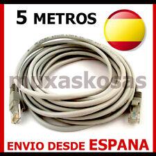 CABLE DE RED LATIGUILLO UTP ETHERNET RJ45 5 M METROS 5M ROUTER LAN UTP