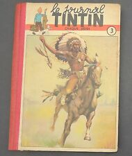 TINTIN album éditeur n°3 (n°35 à 51) 1949. Bel état dos refait