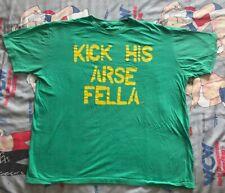 "Sheamus ""Kick His Arse Fella"" T-Shirt the bar XXL WWE/WWF green celtic warrior"