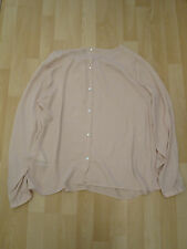 Women's Size Large Button Through Back Beige Blouse from Benetton