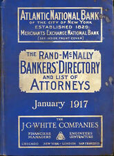 1917 RAND McNALLY BANKERS DIRECTORY NATIONAL BANK LAWYERS MAPS etc