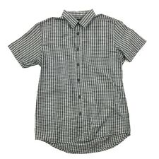 NEW Quicksilver Men's MODERN FIT Button Up Shirt Adult S Black White Checks $55