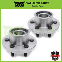 Pair For 2WD RWD 1997 1998 99-2003 Dodge Dakota Durango Front Wheel Bearing Hub
