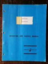 Hewlett Packard HP Operating & Service Manual - Voltmeter 427A  Original  1965