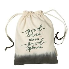 """Travel Shoe Tote Bag Embroidered With """"Good Shoes Take You Good Places""""; NWT"""