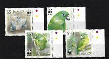 JAMAICA SG1121/4, 2006 BLACK-BILLED AMAZON MNH