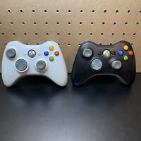 Lot of 2 Microsoft Xbox 360 Wireless Controllers White/Black Untested As Is
