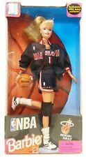 1998 Mattel Nba Miami Heat Barbie Doll No. 20694 Nrfb