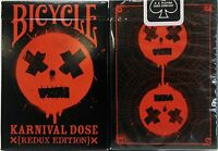 Karnival RED Dose Deck Playing Cards -Redux Edition (Ltd Ed) Rare Bicycle 1 Deck