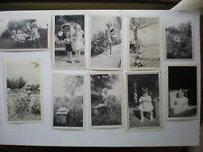Antique photo lot 1930's Children with Toys & Automobile