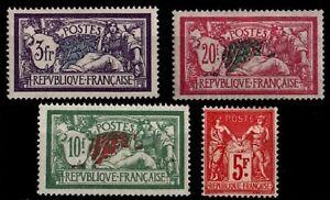 L'ANNÉE 1925 Complète, Neufs * = Cote 565 € / Timbres France n°206 à 208 + 216