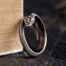 925 Sterling Silver snake men's rings ring Jewelry Adjustable S3466