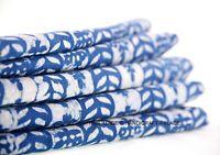 3 Yard Indian Hand Block Print Pure Cotton Indigo BLUE Handmade Sewing Fabric